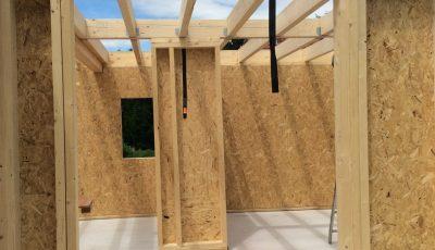 chantier d'une maison à ossature bois sur Lobsann, 67205, Bas-Rhin, Alsace