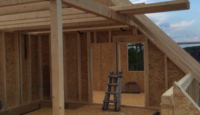 construction d'une maison ossature bois Lobsann, Bas-Rhin Alsace