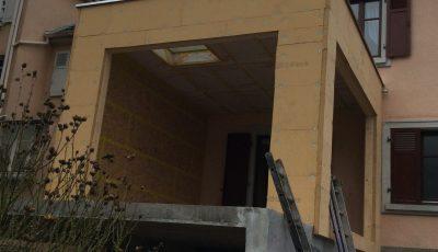 ajout d'une pièce supplémentaire grâce à la construction d'une extension OB sur une maison à Lingolsheim